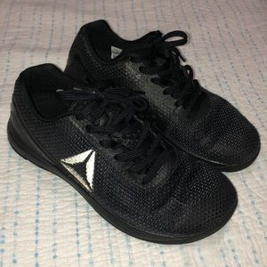 Solid black Reebok CrossFit Nano 7 Men's 8.5